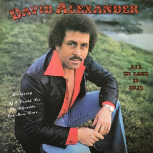 David Alexander ‎- All In Love Is Fair (LP) (Signed) (G++/VG-)